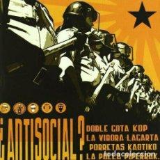 CDs de Musique: ¿ANTISOCIAL? - VARIOS. Lote 224156802