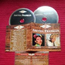 CDs de Música: ARETHA FRANKLIN: ARETHA Y GET IT RIGHT. 2CD'S. 1986 Y 1983 ARISTA RECORDS.. Lote 224213607
