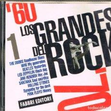 CDs de Música: LOS GRANDES DEL ROCK DE LOS 60, VER CONTENIDO EN FOTOGRAFIA DEL DORSO. Lote 224438148