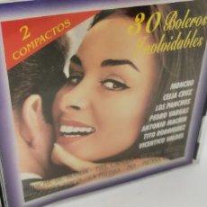 CDs de Música: 30 BOLEROS INOLVIDABLES 2 CD'S. Lote 224480836