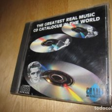 CDs de Música: CD THE GREATEST REAL MUSIC CD CATALOGUE IN THE WORLD. 1988. Lote 224481578
