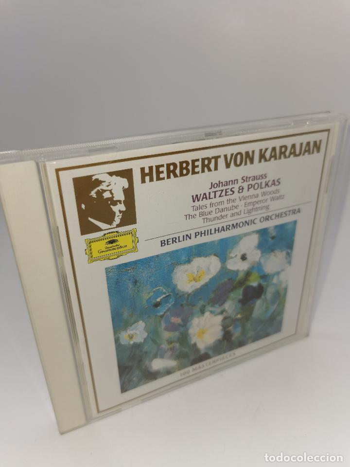 HERBERT VON KARAJAN JOHANN STRAUSS WALTZES POLKAS 100 MASTERPIECES CD (Música - CD's Otros Estilos)