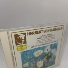 CDs de Música: HERBERT VON KARAJAN JOHANN STRAUSS WALTZES POLKAS 100 MASTERPIECES CD. Lote 224482267