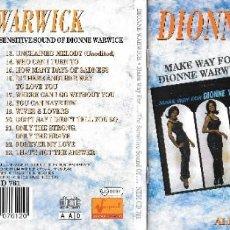CDs de Música: DIONNE WARWICK - MAKE WAY FOR DIONNE WARWICK / THE SENSITIVE SOUND OF DIONNE WARWICK. Lote 224494681