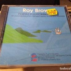 CDs de Música: ROY BROWN CD POETAS PUERTORRIQUEÑOS CD IMPORTADO Y SELLADO. Lote 224510505