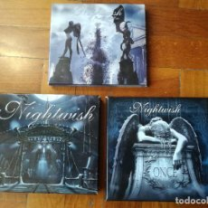 CDs de Música: NIGHTWISH 3 DIGIPACK COMPLETOS CON LIBRETOS Y POSTERS. NUCLEAR BLAST. LOS DISCOS CD'S COMO NUEVOS. Lote 224549107