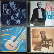 CDs de Música: LOTE ROCK COUNTRY - CHET ATKINS - STAY TUNED 1985 / READ MY LICKS 1994 / MASTER 1998 / ALMOST ALONE. Lote 224609206