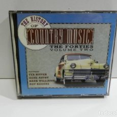 CDs de Música: DISCO 2 CD. THE HISTORY OF COUNTRY MUSIC - THE FORTIES VOLUME TWO. COMPACT DISC. DOBLE. Lote 224633913