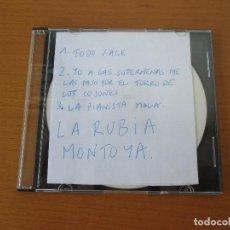CDs de Música: LA RUBIA MONTOYA DEMO MAQUETA 3 CANCIONES 2002. Lote 224660625