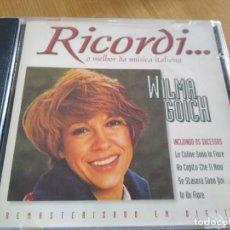 CDs de Música: WILMA GOICH -CD RICORDI-IMPORTADO 14 EXITOS DE LOS AÑOS 60. Lote 224729797