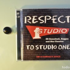 CDs de Música: RESPECT TO STUDIO ONE- 33 DANCEHALL, REGGAE AND SKA CLASSICS (1994, 2CD). Lote 224826952