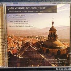 CDs de Música: JAEN MEMORIA DE LOS SENTIDOS - JESUS BARROSO - ANTONIO MUÑOZ MOLINA. Lote 224901748