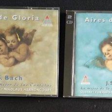 CDs de Música: LOTE CD DOBLES AIRES DE GLORIA VOL. I Y II - J.S. BACH - GUSTAV LEONHARDT Y NIKOLAUS HARNONCOURT. Lote 224993191