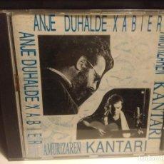 CDs de Música: CD ANJE DUHALDE XABIER ( EXCELENTE CANTAUTOR VASCO ) : AMURIZAREN KANTARI. Lote 225211850