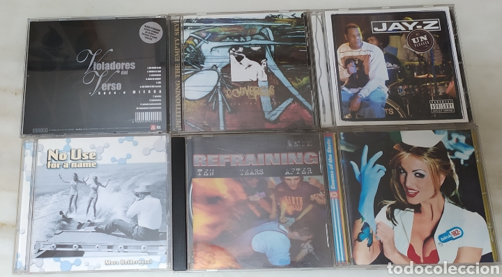LOTE DE 18 CDS HIP HOP, RAP & ROCK (Música - CD's Hip hop)