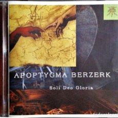 CDs de Música: APOPTYGMA BERZERK - SOLI DEO GLORIA. (ELECTRÓNICA ). Lote 225228156