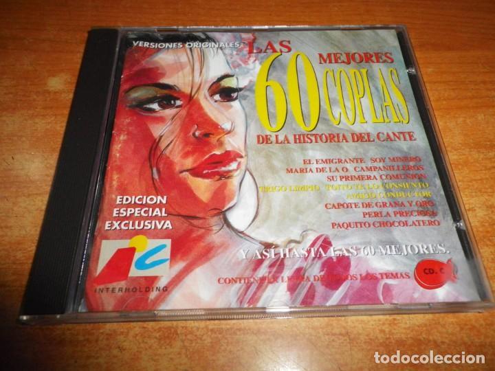 LAS 60 MEJORES 60 COPLAS DE LA HISTORIA DEL CANTE VOL. 3 CD ALBUM 1994 CONTIENE 20 TEMAS (Música - CD's Flamenco, Canción española y Cuplé)