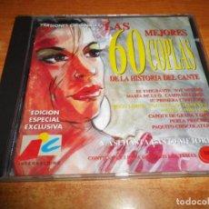 CDs de Música: LAS 60 MEJORES 60 COPLAS DE LA HISTORIA DEL CANTE VOL. 3 CD ALBUM 1994 CONTIENE 20 TEMAS. Lote 225369038