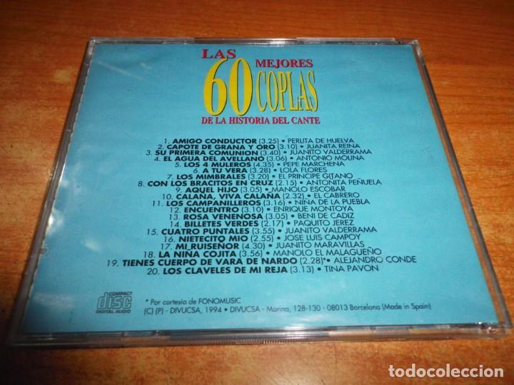 CDs de Música: LAS 60 MEJORES 60 COPLAS DE LA HISTORIA DEL CANTE VOL. 3 CD ALBUM 1994 CONTIENE 20 TEMAS - Foto 2 - 225369038