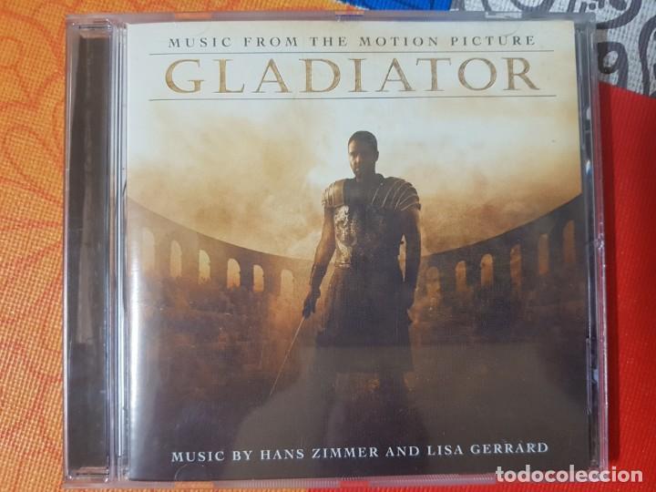 BSO ORIGINAL GLADIATOR CON TEMAS DE HANS ZIMMER Y LISA GERRARD. CINE ÉPICO (Música - CD's Bandas Sonoras)