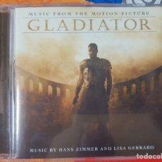CDs de Música: BSO ORIGINAL GLADIATOR CON TEMAS DE HANS ZIMMER Y LISA GERRARD. CINE ÉPICO. Lote 225813535