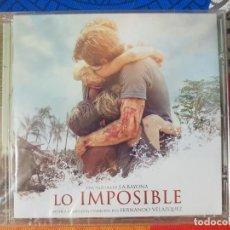 CDs de Musique: BSO ORIGINAL LO IMPOSIBLE DE J.A. BAYONA CON TEMAS DE FERNANDO VELÁZQUEZ. CINE ÉPICO. Lote 225816610