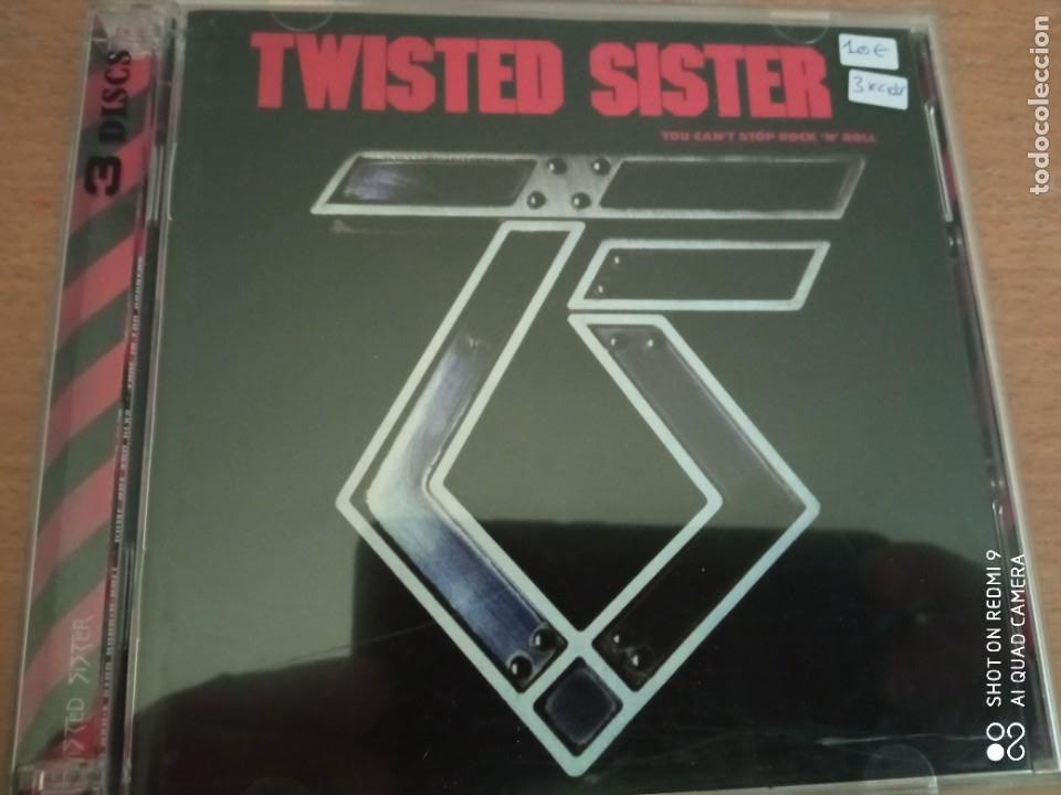 TWISTED SISTER 3XCDS YOU CAN´T STOP ROCK ´N´ ROLL/ COME OUT AND PLAY/ LIVE IS FOR SUCKERS+ BONUS (Música - CD's Heavy Metal)