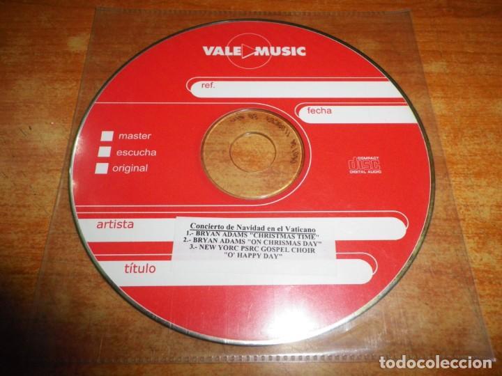 CONCIERTO DE NAVIDAD EN EL VATICANO CD SINGLE PROMO BRYAN ADAMS CHRISTMAS TIME CONTIENE 3 TEMAS (Música - CD's Pop)