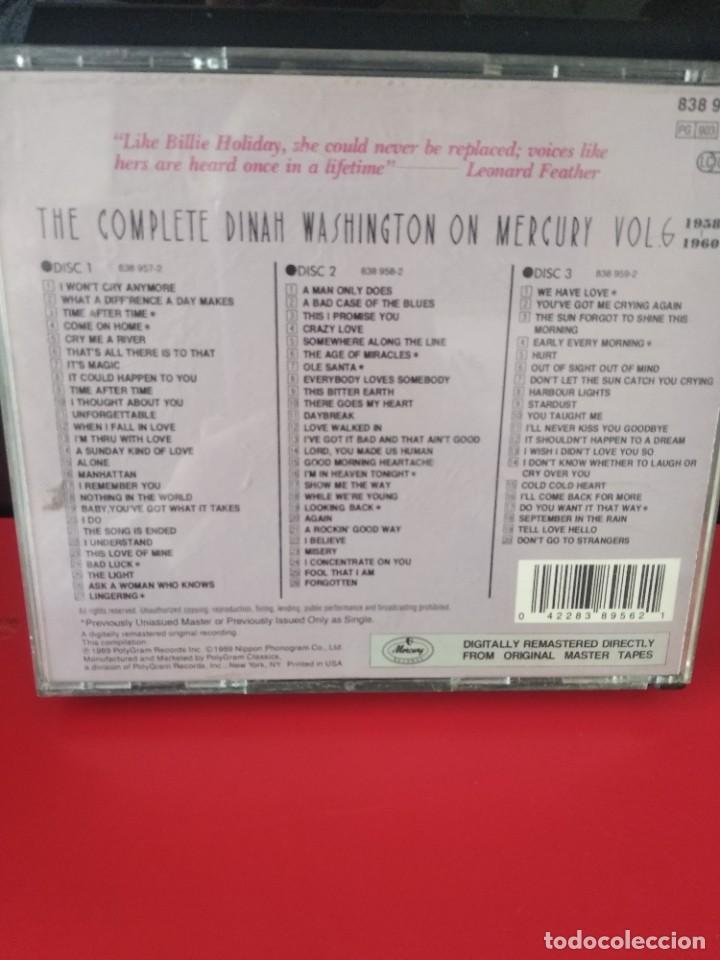 CDs de Música: DINAH WASHINGTON (THE COMPLETE D.W. ON MERCURY VOL 6) TRIPLE CD 73TRACKS - Foto 2 - 226041272