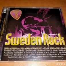 CDs de Música: SWEDEN ROCK 2 CD VOL. 2 RARE, SWEDEDEN PRESS 2009 -HEAT-AVANTASIA-RATT-FOREIGNER-WHITE LION. Lote 226099595