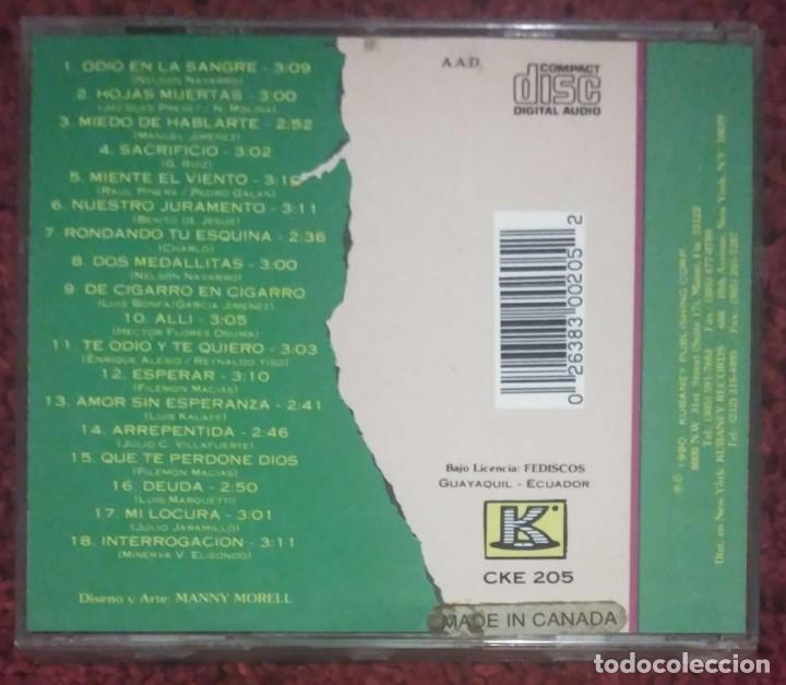 CDs de Música: JULIO JARAMILLO (18 BOLEROS) CD 1990 Edición Canada * Raro - Foto 2 - 226120013