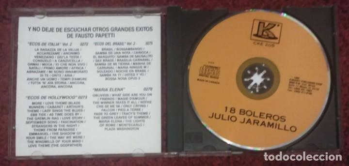 CDs de Música: JULIO JARAMILLO (18 BOLEROS) CD 1990 Edición Canada * Raro - Foto 3 - 226120013