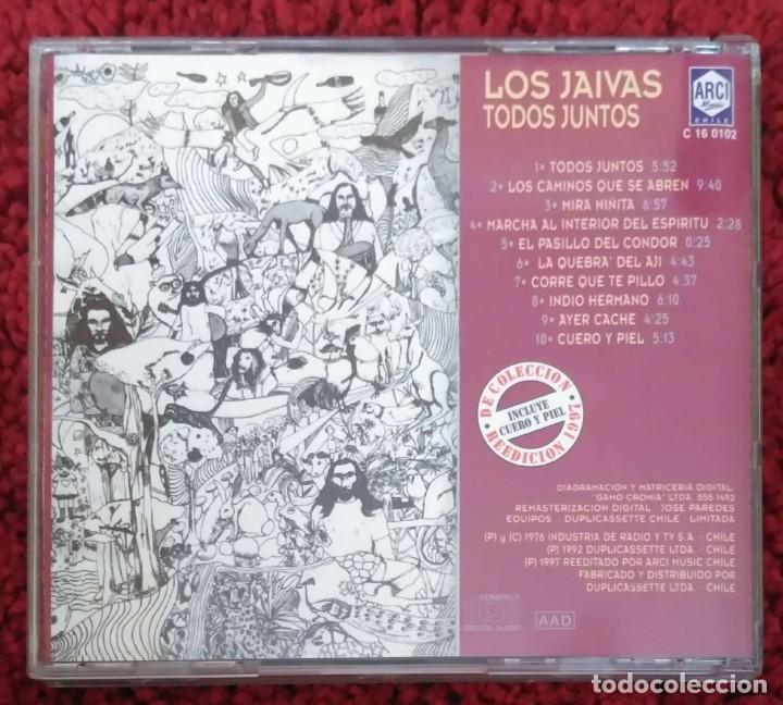 CDs de Música: LOS JAIVAS (TODOS JUNTOS) CD 1997 Edición Chilena - Foto 2 - 226120292