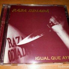 CDs de Música: RAZA ODIADA CD RARE ARGENTINA HEAVY 2005-HELKER-RATA BLANCA-MAGO DE OZ-SARATOGA-MAGO DE OZ-DRAMAH. Lote 226141810