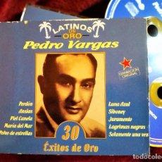 CDs de Música: 2XCD PEDRO VARGAS, LATINOS DE ORO, SUS 30 ÉXITOS DE ORO, DOBLE CD, EXCELENTE ESTADO (EX_NM). Lote 226472030