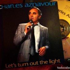 CDs de Música: CHARLES AZNAVOUR, LETS TURN OUT THE LIGHT, 1993 PILZ 44 8200-2, COMO NUEVO(NM_NM). Lote 226495480