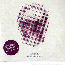CDs de Música: ESKORZO - PARAISOS ARTIFICIALES - ÁLBUM PROMO. Lote 215040392