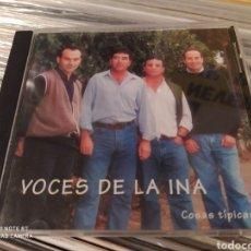 CDs de Música: VOCES DE LA INA. COSAS TÍPICAS. CD. BUEN ESTADO. SEVILLANAS ROCIERAS.. Lote 226623660