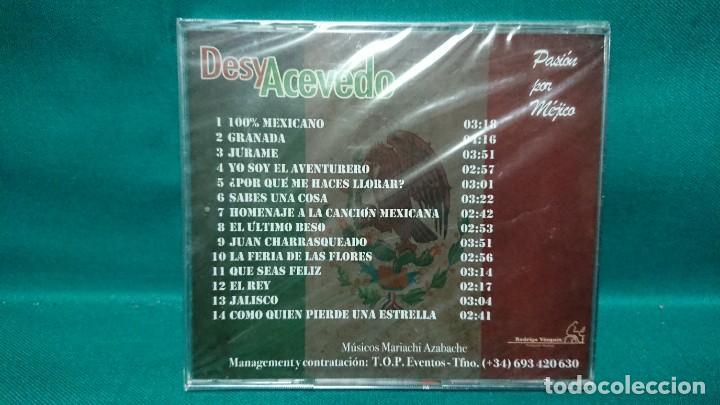 CDs de Música: CD MÚSICA DESY ACEVEDO PASIÓN POR MEJICO MÉXICO - SIN ABRIR - Foto 3 - 226628200