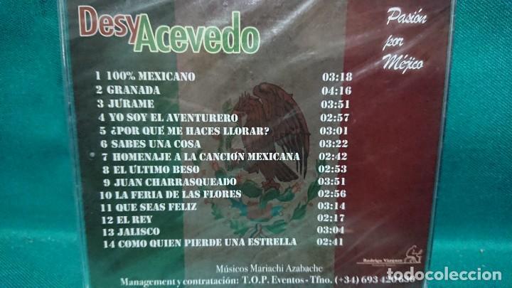 CDs de Música: CD MÚSICA DESY ACEVEDO PASIÓN POR MEJICO MÉXICO - SIN ABRIR - Foto 2 - 226628200