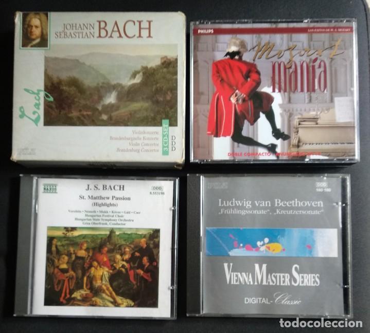 LOTE 7 CD INTERESANTE - JOHAN S. BACH (CD TRIPLE + CD DOBLE + CD SENCILLO) / BEETHOVEN (CD SENCILLO (Música - CD's Clásica, Ópera, Zarzuela y Marchas)