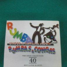 CDs de Música: RUMBAS & CONGAS. UNDER A HAVANA MOON. 40 HOT LATIN DANCES. 2 CD. Lote 226812394