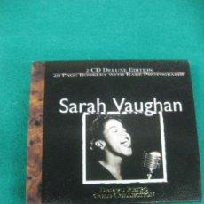 CDs de Música: SARAH VAUGHAM. DEJAVU RETRO GOLD COLLECTTION. 2 CD + LIBRITO. Lote 226813000