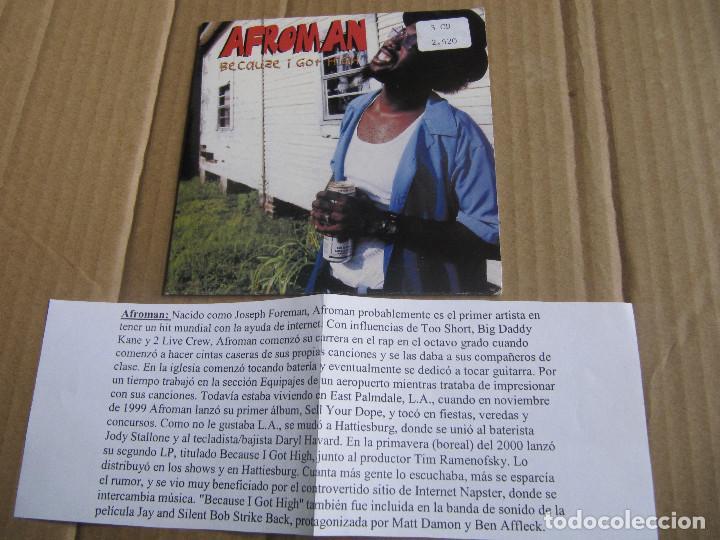 AFROMAN - BECAUSE I GOT HIGH CD SINGLE PROMO CADENA 100 (Música - CD's Reggae)