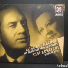 CDs de Música: CD HELGE ROSWAENGE & HILDE KONETZNI ( BEETHOVEN, WAGNER, MASSENET, PUCCINI, VERDI, MEYERDEER, PEPETO. Lote 226922405