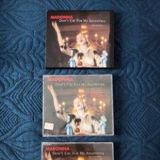 CDs de Música: MADONNA LOTE 3 SINGLES DONT CRY FOR ME ARGENTINA EVITA. Lote 226980330