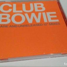 CDs de Música: CD ( DAVID BOWIE - CLUB BOWIE RARE AND UNRELEASED 12 MIXES ) 2003 VIRGIN - NUEVO. Lote 227103145