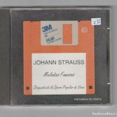 CDs de Música: JOHANN STRAUSS- MELODIAS FAMOSAS. Lote 227125430