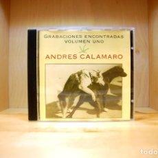 CDs de Música: ANDRÉS CALAMARO - GRABACIONES ENCONTRADAS VOLUMEN 1 - CD -. Lote 227273660