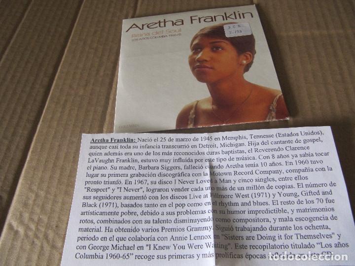 ARETHA FRANKLIN. REINA DEL SOUL. LOS AÑOS COLUMBIA 1960-65. CD PROMOCIONAL CADENA 100 (Música - CD's Jazz, Blues, Soul y Gospel)